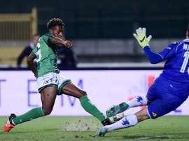 Samuel Bastien, durante un partido con el Avellino. Twitter