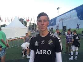Samuel Brolin estará a prueba en el Manchester United. AIK