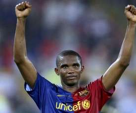 Samuel Eto'o thanked God for helping him. EFE