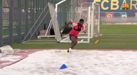 Umtiti is stepping up his recovery from injury. FCBarcelona