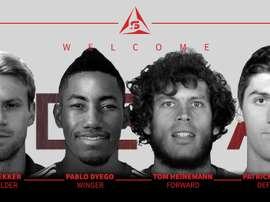 Pablo, Bekker, Heinemann y Hopkins, son nuevos jugadores del equipo de la NASL. SFDeltas
