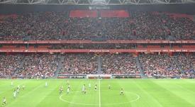 San Mamés, cuatro veces en el top 10 de asistencia del fútbol femenino español. Athletic