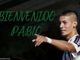 Pablo Palacios firmó por dos temporadas. Twitter/CASanMartinSJ