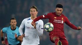 Sander Berge también suena para el Liverpool. AFP