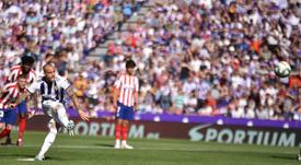 Sandro mandó a las nubes el penalti. RealValladolid