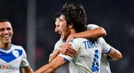 El Inter, más cerca de llevarse a Tonali. EFE