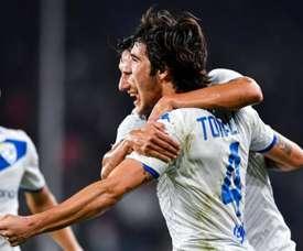 Roberto Mancini ne tarit pas d'éloges à l'égard de Sandro Tonali. EFE