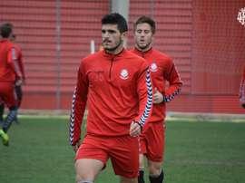 Sandro Toscano todavía no ha abandonado Tarragona.  Twitter/NásticdeTarragona