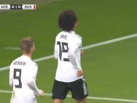 Sané slotted home from close range to out Germany ahead. CAPTURA