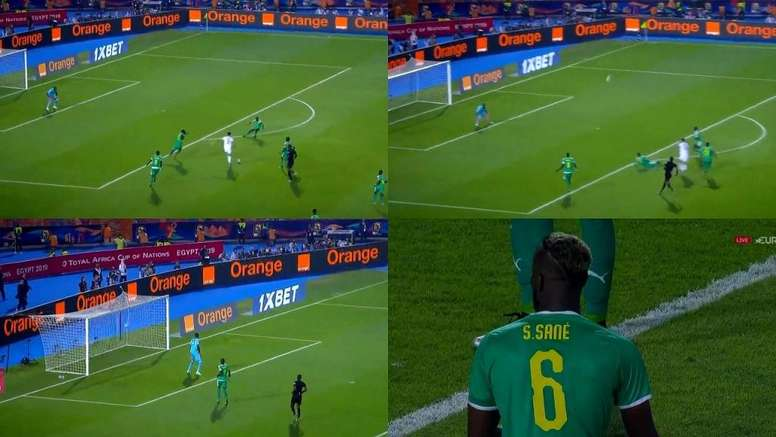 Bounedjah tuvo suerte. Capturas/Eurosport