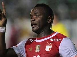Santa Fe venció 1-3, con dos goles de Ibargüen, al Oriente Petrolero. EFE