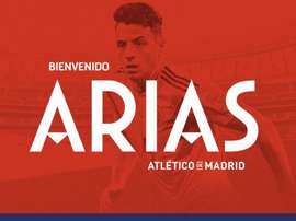 Arias is coming to Atleti. Twitter/Atletico