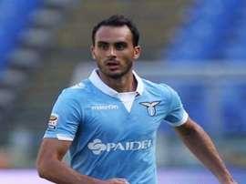 Santiago Gentiletti disputa un partido con la Lazio. Twitter