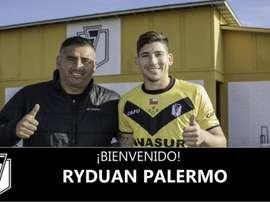Ryduan Palermo llega hasta final de 2018. Twitter/Stgo_Morning