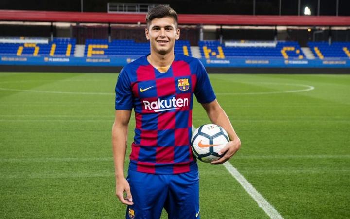Le Barça a refusé une offre pour Ramos Mingo. Twitter/FCBarcelonaB