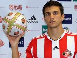 Santiago Vergini, jugador del Sunderland, nuevo fichaje del Getafe. SAFC