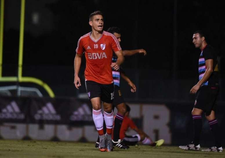 Santos Borré, titular. RiverPlate