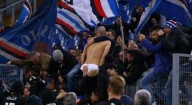 Saponara también se quedó sin calzoncillos en la celebración. Sampdoria