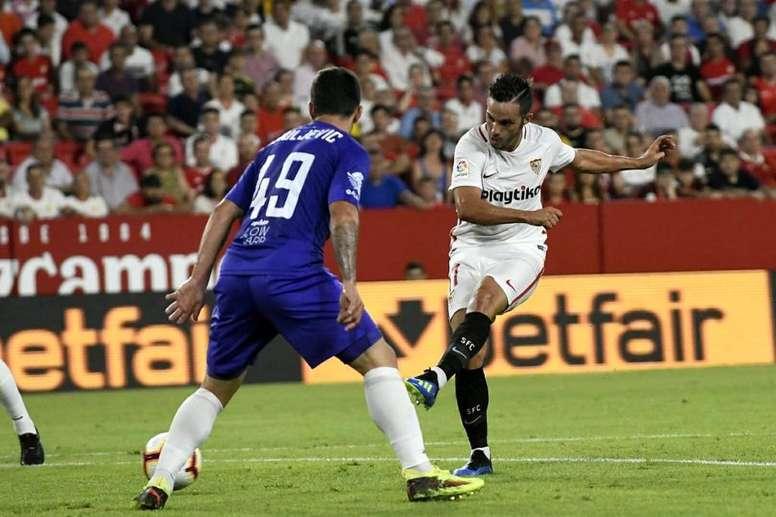 El Sevilla se impuso con facilidad. Twitter/SevillaFC