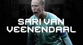 Sari van Veenendaal partait favorite. Capture/FIFA