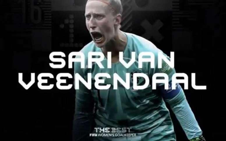 Sari van Veenendaal is the best in the world. Screenshot/FIFA