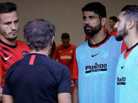 Saúl Ñíguez a analysé la rencontre. Twitter/Atleti