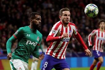 Saúl Ñíguez continua na mira do Barça.  EFE/Juanjo Martín