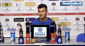 Saúl, motivado ante la 'final' contra el Hércules. PonferradinaTV