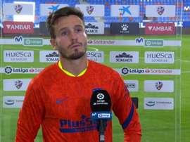 Saúl achacó el empate a la falta de fortuna. Captura/MovistarLaLiga