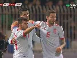 Morata a ouvert et fait le break. Capture/DIRECTVSPORTS