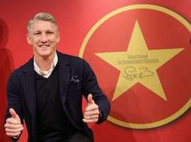 Schweinsteiger, en su inclusión en el Salón de la Fama del Bayern. Twitter/FCBayern