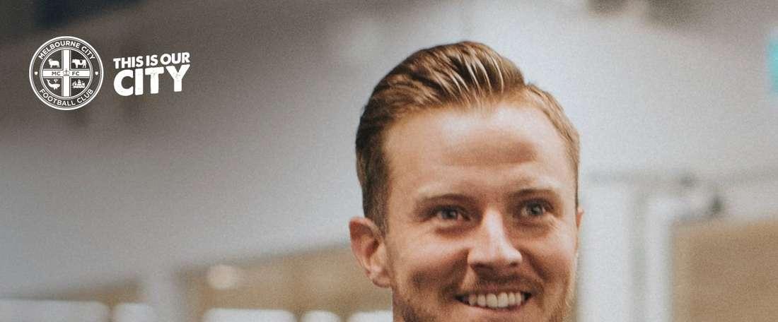 Scott Jamieson, presentado como nuevo jugador del Melbourne City. MelbourneCity
