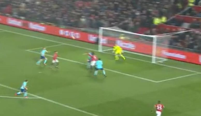 Lukaku headed United into the lead against Bournemouth. SkySports