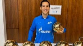 Não é Messi, mas também tem seis Bolas de Ouro. Twitter/zenit_spb