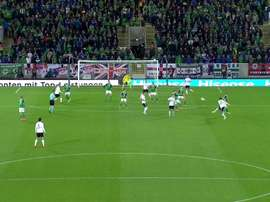 Sebastian Rudy gave German the lead against Northern Ireland with a stunner. Twitter/SkySportsStatto