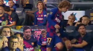 Frieza na relação entre Griezmann e Messi? Capturas/Jugones