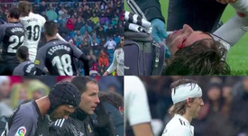 Modric a quitté le terrain. Capturas/beINSports