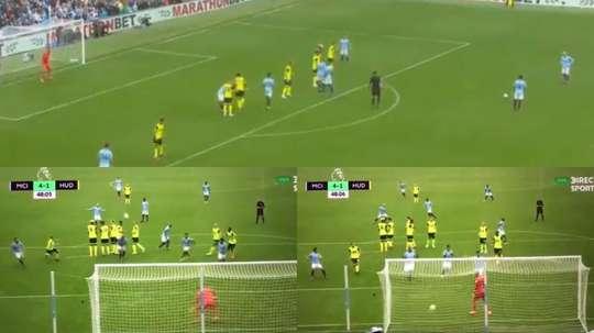Así fue el gol de David Silva al Huddersfield Town. Captura/DirectTV-RMCSports