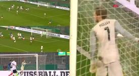 Le coup franc pleine lucarne signé Ikoné. Eurosport