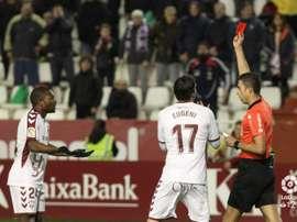 Béla se marchó expulsado por la celebración de su gol. LaLiga