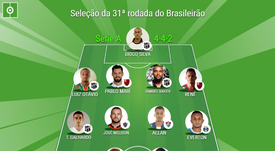 Assim ficou a seleção da 31ª rodada do Brasileirão. EFE/Antonio Lacerda/Archivo