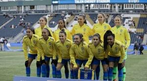 Seleção feminina perde para o Japão. Twitter @CBF_Futebol