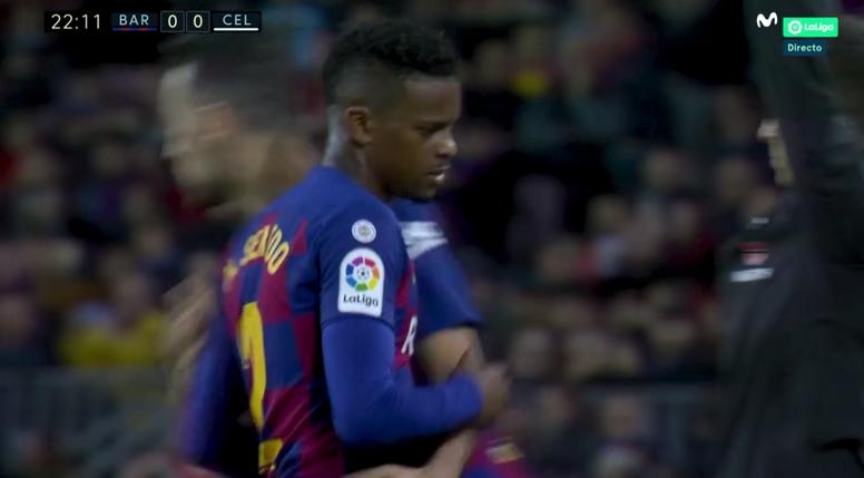 Valverde cambió a Semedo en el 23': ¿lesión o castigo? Captura/MovistarLaLiga