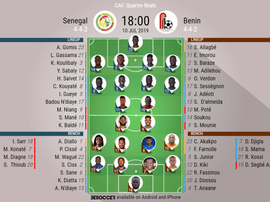 Senegal v Benin, African Cup of Nations, quarter-finals, 10/7/2019 - Official line-ups. BESOCCER