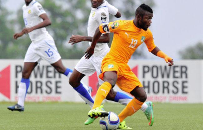 Serge N'Guessan, en un partido con las categorías inferiores de Costa de Marfil. SportIvoire