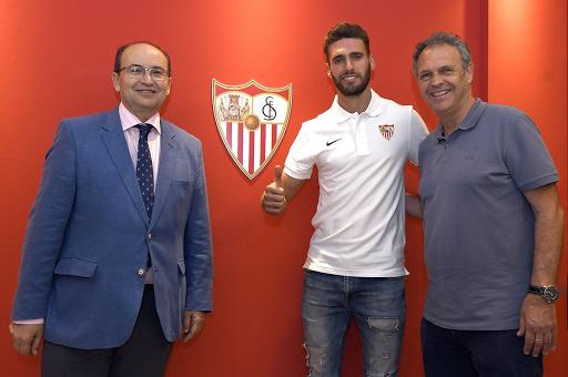 Sergi Gómez considera que el Sevilla es un paso adelante en su carrera. Twitter/SevillaFC