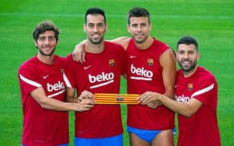 Les quatre nouveaux capitaines du Barça sont des purs produits de la Masia. FCBarcelona