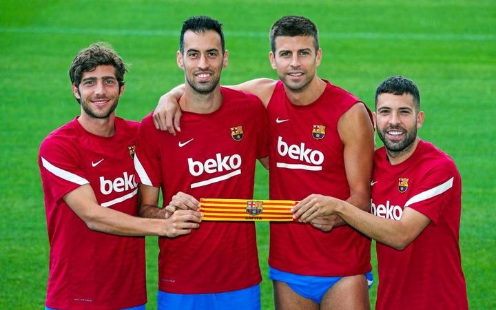 Cuatro capitanes catalanes y 'made in La Masia' para el Barça tras el adiós de Messi. FCBarcelona