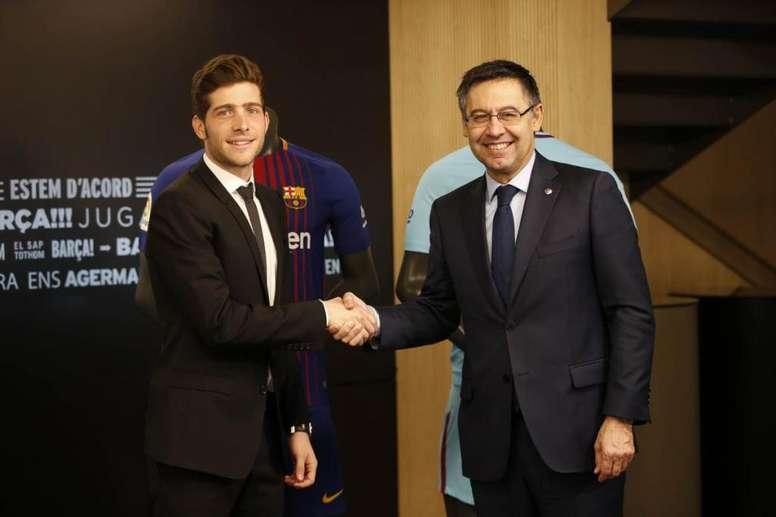 Bartomeu agradeció su fidelidad al club. FCBarcelona