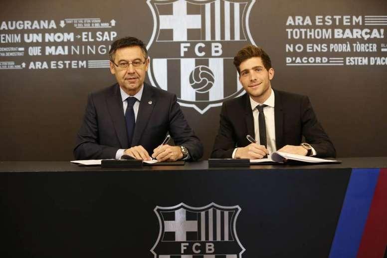 Sergi Roberto amplió su contrato. FCBarcelona